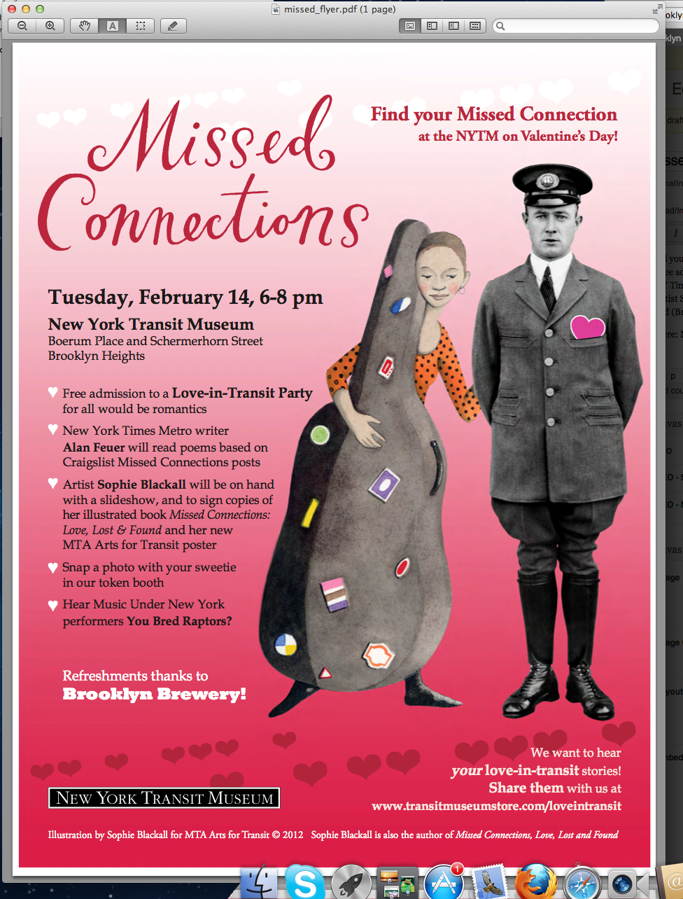 Missed Connections at NY Transit Museum on Valentine's Day ...